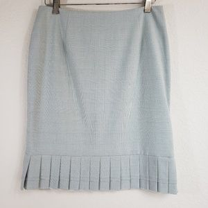 Phoebe Couture Tiffany Blue Pencil Skirt w Pleats